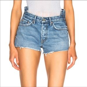 GRLFRND | The ALT High Rise Button Fly Jean Shorts